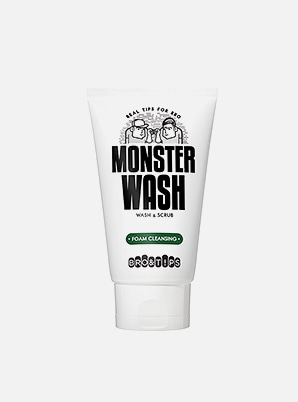 [U-Know &P!CK] BRO&T!PS MONSTER WASH FOAM CLEANSING