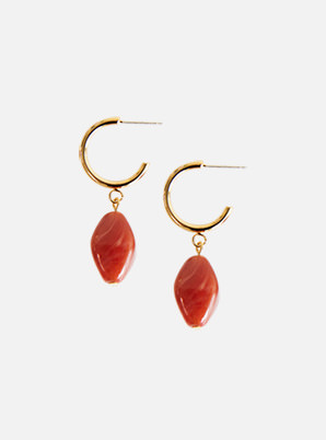 [STYLIST &P!CK] zudritt Sunstone hoop earrings