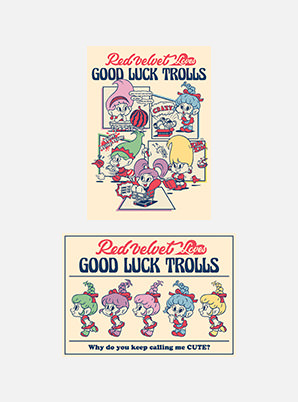 Red Velvet POSTCARD - Red Velvet Loves GOOD LUCK TROLLS