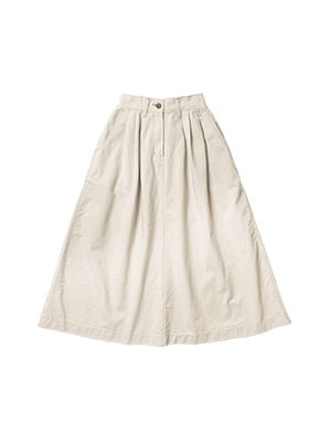 [STYLIST &P!CK] CHIQUITA C19-3 Cotton Pleat SK W - Oatmeal